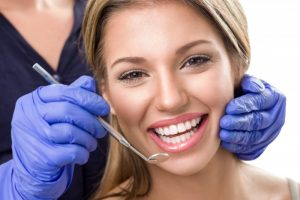 Smiling woman at dental checkup