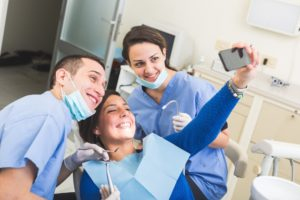 selfie with dentist